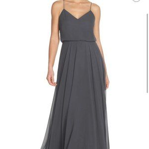 Jenny Yoo Inesse Bridesmaid Gown in Storm